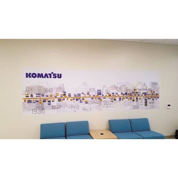 Interior Wall Mural with Logo
