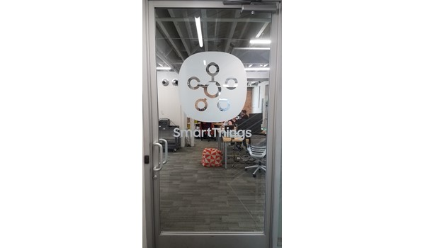 Frosted Logo on door