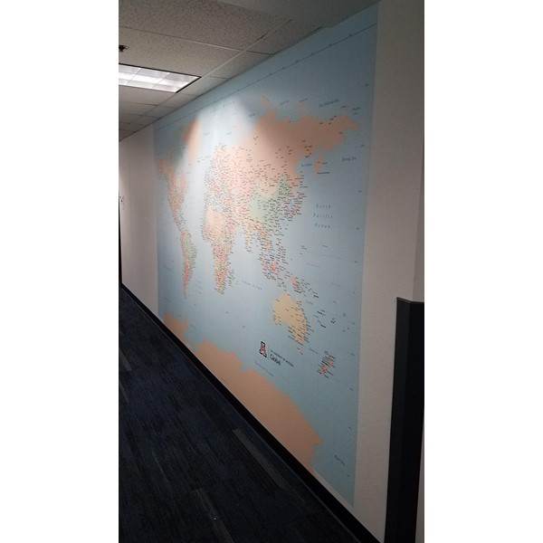 Geographic Wall Mural