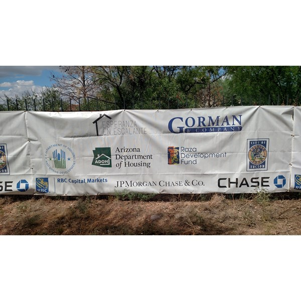 Mesh Banners installed for Construction site